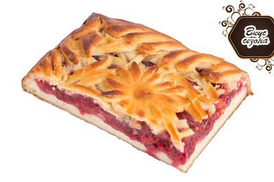 Спешите испытать пирог со свежей малиной!